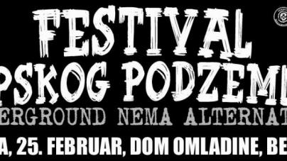 Festival srpskog podzemlja u Domu omladine