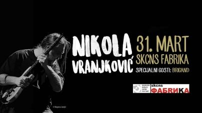 Nikola Vranjković 31. marta u Novom Sadu