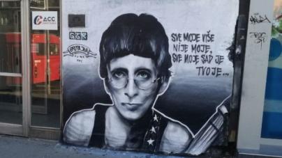 """Gile iz """"Električnog orgazma"""" dobio mural u Beogradu"""