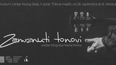 """Otvaranje izložbe """"Zamrznuti tonovi"""" 28. septembra u Novom Sadu"""