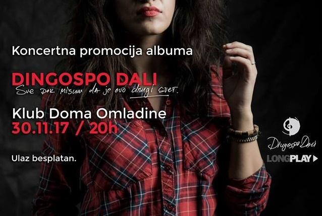 Dingospo Dali u Klubu Doma omladine Beograda promoviše debitantski album