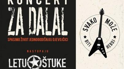Letu Štuke na humanitarnom koncertu za Dalal
