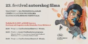 Programi sa Kanskog festivala na 23. FAF-u