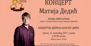 Matija Dedić 11. novembra u Banjaluci