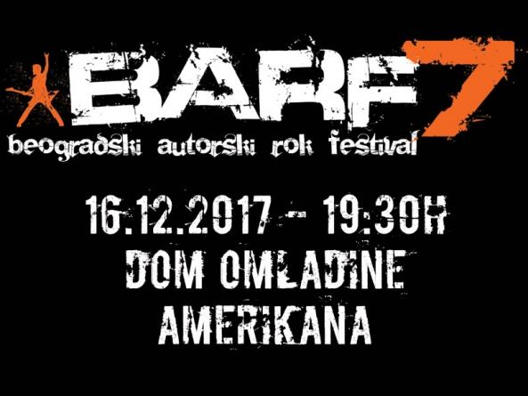 Festival BARF 2017 – Finale 16. decembra