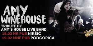 Amy's House – Tribute band to Amy Winehouse 18. i 19. 02. u Nikšiću i Podgorici