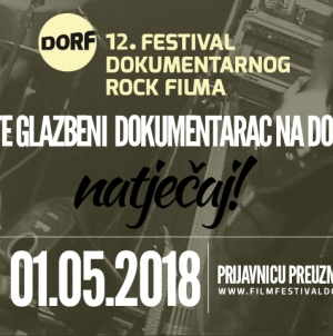 Otvoren natječaj za 12. DORF (festival dokumentarnog rock filma)