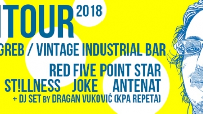 AkiTour2018 – Stillness, Joke, Antenat i Red Five Point Star 16. ožujka u Vintage Industrialu