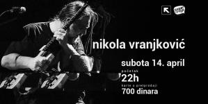 Nikola Vranjković 14. aprila u Nišu