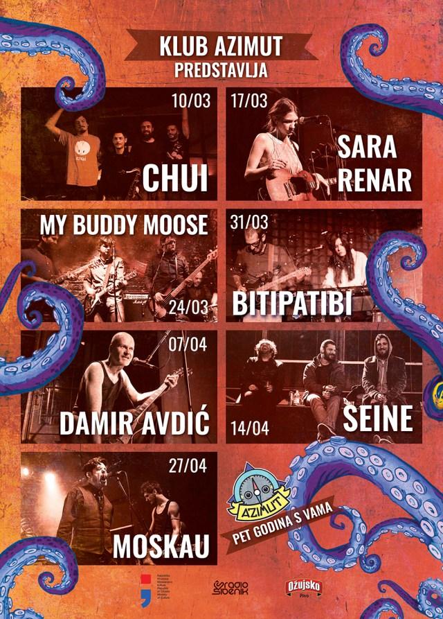 Chui, Sara Renar, My Buddy Moose, Bitipatibi, Damir Avdić, Seine i Moskau za pet godina Azimuta