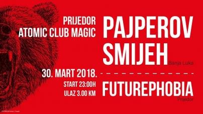 Pajperov Smijeh i Futurephobia u petak u prijedorskom klubu Magic