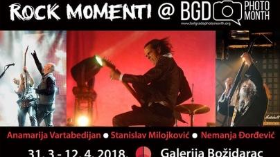Izložba koncertnih rock fotografija 'Rock Momenti' na Beogradskom mesecu fotografije