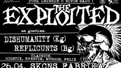 Objavljena satnica za The Exploited u Novom Sadu