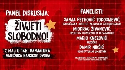 """Panel diskusija """"Živjeti slobodno"""" i koncert JINX/TBF/S.A.R.S. u čast obilježavanja Međunarodnog dana pobjede nad fašizmom"""