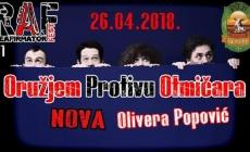 Prvo izdanje R.A.F.-a ugostiće Oružjem Protivu Otmičara, Nova i Oliveru Popović