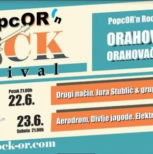 Prvo izdanje 'PopcORn 'n ROCK festivala' 22. i 23.6. na Orahovačkom jezeru