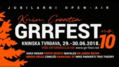 10. GRR Fest od 29. i 30. lipnja na kninskoj tvrđavi