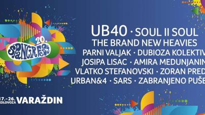 UB40, Soul II Soul, The Brand New Heavies i mnogi drugi na 20. Špancirfest-u