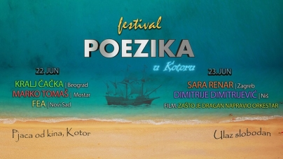 Festival Poezika 22. i 23. juna u Kotoru