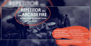 Repetitor na turneji sa Arcade Fire
