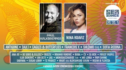 Lideri svjetske elektronske scene Paul Kalkbrenner i Nina Kraviz stižu na Sea Dance