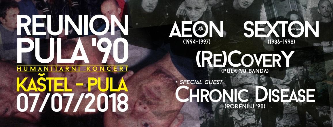 """Reunion kultnih pulskih metal bendova: Koncert na Kaštelu za humanitarnu akciju """"Zakotrljajmo zajedno"""""""