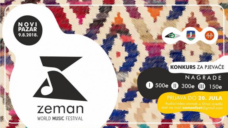 "Otvren konkurs za pjevače u sklopu festivala World Music Fest ""Zeman"""