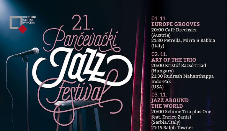 21. Pančevački jazz festival od 1. do 4. novembra