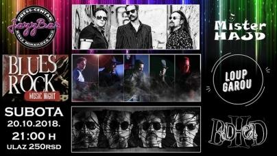 Loup-Garou, Mister Hajd i Badhead 20. oktobra u beogradskom Jazz Baru