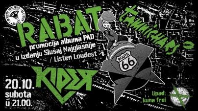 """Rabat uz goste 20.10. u zagrebačkom Route66 promovira album """"Pad"""""""