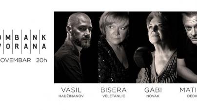 Vasil, Bisera, Gabi i Matija 16. novembra u Kombank dvorani