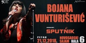Noćni program sa Bojanom Vunturišević 21. decembra u Hali 6 Novosadskog Sajma