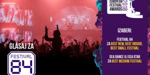 Festival 84 već u prvoj godini nominovan za najbolji europski festival u čak tri kategorije