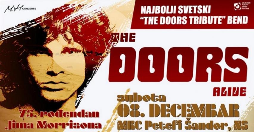 Novosadski koncert The Doors Alive premešten na novu lokaciju