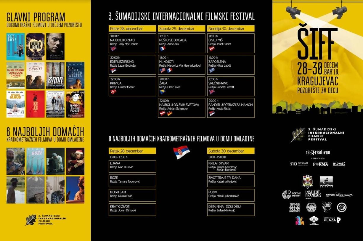 Šumadijski internacionalni filmski festival program
