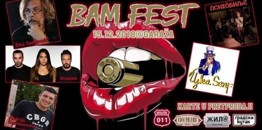 Prvi BAM – Belgrade Actors' Music Festival 15. decembra u beogradskom klubu Garaža