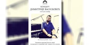 Dimitrije Vasiljević večeras u Banskom dvoru u Banjaluci