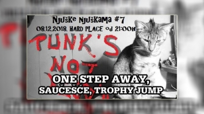 Njuške njuškama #7 – One Step Away, Saučešće i Trophy Jump 08.12. u Hard Placeu