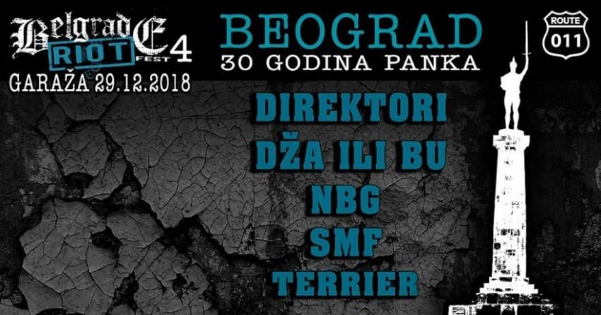 Novogodišnji Belgrade Riot Fest 4 – 30 godina panka u Beogradu