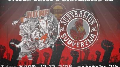 Zajednička svirka u banjalučkom KSET-u – Uvijek drugi & Subversion BL