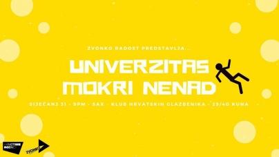 Zvonko Radost predstavlja: Univerzitas i Mokri Nenad 31.01. u Saxu