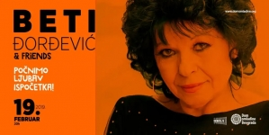 Beti Đorđević & Friends 19. februara u Domu omladine Beograda