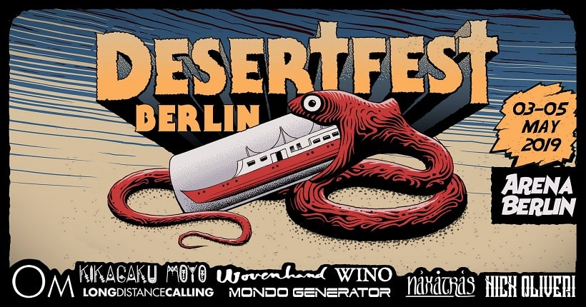 Desertfest Berlin 2019 Om, Wovenhand, Kikagaku Moyo, Wino, Naxatras