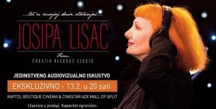 Josipa Lisac na Cinestar filmskom platnu ekskluzivno samo 13. veljače