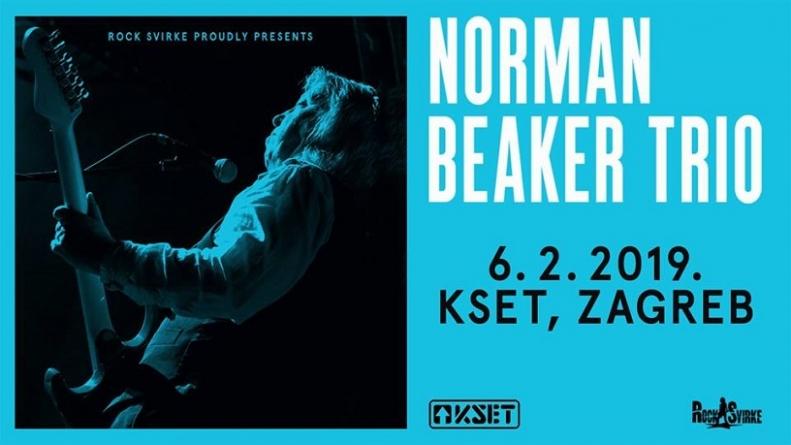 Norman Beaker Trio 6. veljače u zagrebačkom KSET-u
