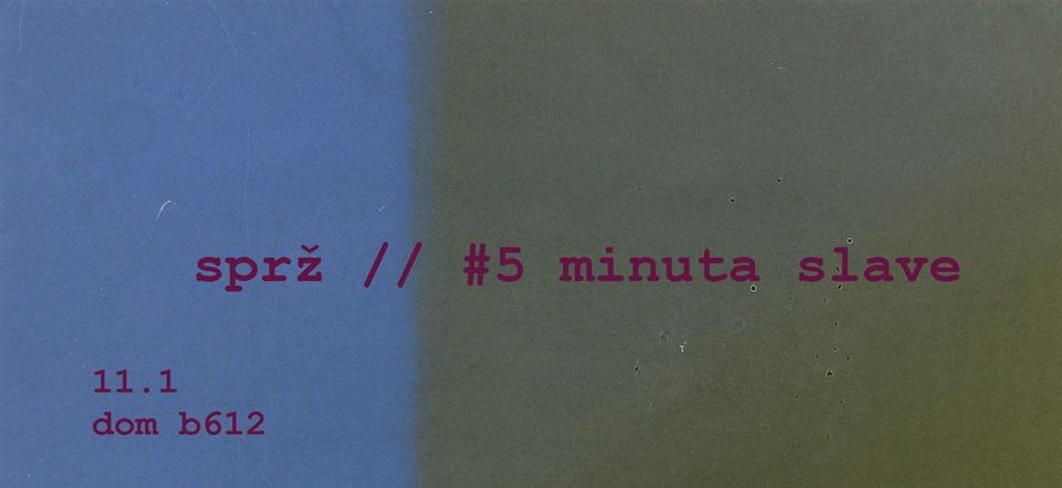 Sprž i 5 minuta slave večeras u novosadskom Domu b-612