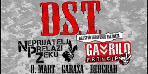 DST, Gavrilo Princip i Neprijatelj Prelazi Zeku 8. marta u beogradskom klubu Garaža