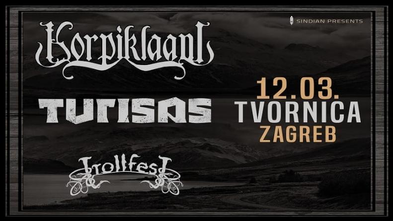 Folk metal spektakl: Korpiklaani, Turisas i Trollfest 12.03. u Tvornici Kulture