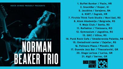 Norman Beaker Trio na turneji po Balkanu