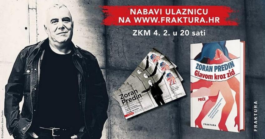 Predstavljanje knjige 'Glavom kroz zid' 4. veljače u ZKM-u